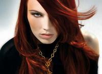 Цвет волос рубин: краситель с огненным характером