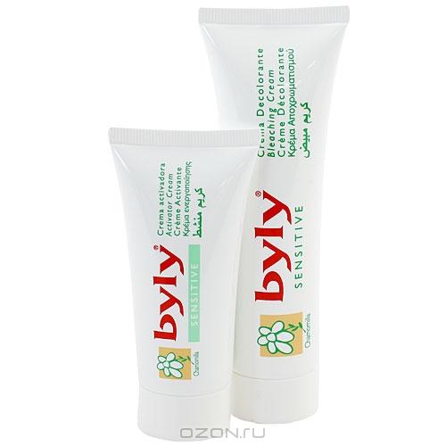 """Набор """"Byly"""" для обесцвечивания волос на лице и теле, для чувствительной кожи"""