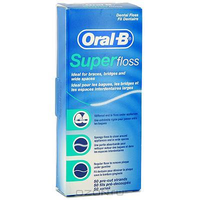 """Зубная нить """"Oral-B Super Floss"""", 50 нитей"""