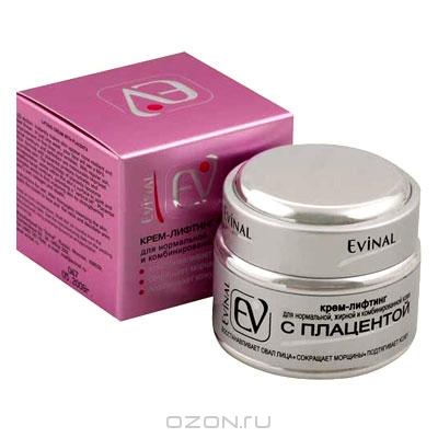 """Крем-лифтинг """"Evinal"""" с экстрактом плаценты, для нормальной, жирной и комбинированной кожи лица"""