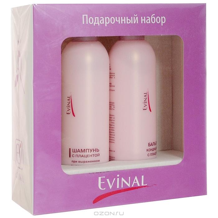 """Подарочный набор """"Evinal"""". Шампунь при выраженном выпадении волос, бальзам-кондиционер для усиления роста волос"""