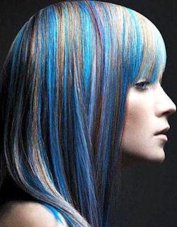 голубой цвет волос