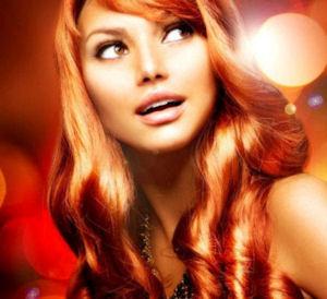 огненно рыжий цвет волос
