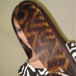 трафаретное окрашивание волос