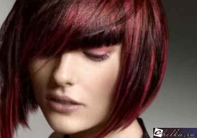 цвет волос гранат
