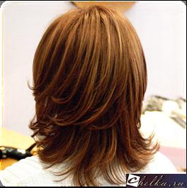 каскад на средние волосы без челки,стрижка каскад на средние волосы без челки