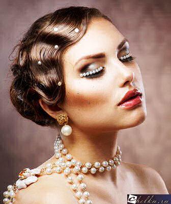 прическа невесты на средние волосы