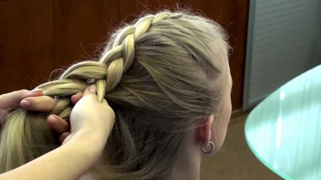 Коса обратного плетения видео