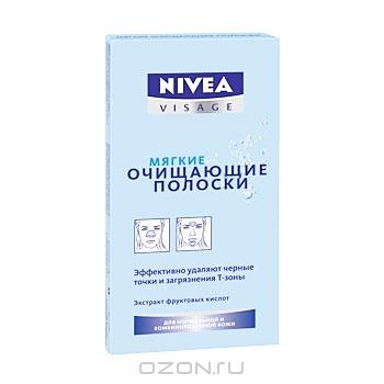 """Мягкие очищающие полоски """"Nivea Visage"""", 8 шт"""