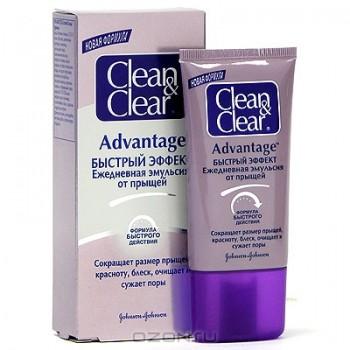 """Ежедневная эмульсия от прыщей Clean&Clear """"Advantage быстрый эффект"""", 40 мл"""